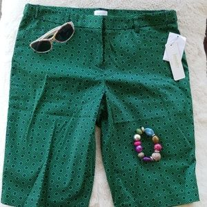 Laundry by Shelli Segal Green/Blue Shorts NWT